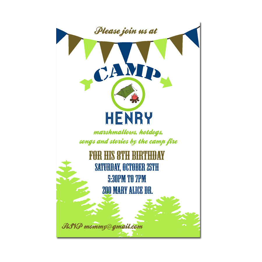 Camping party invitation camping birthday invitation digial file camping party invitation camping birthday invitation digial file printable or printed invitations outdoor fall birthday party stopboris Gallery