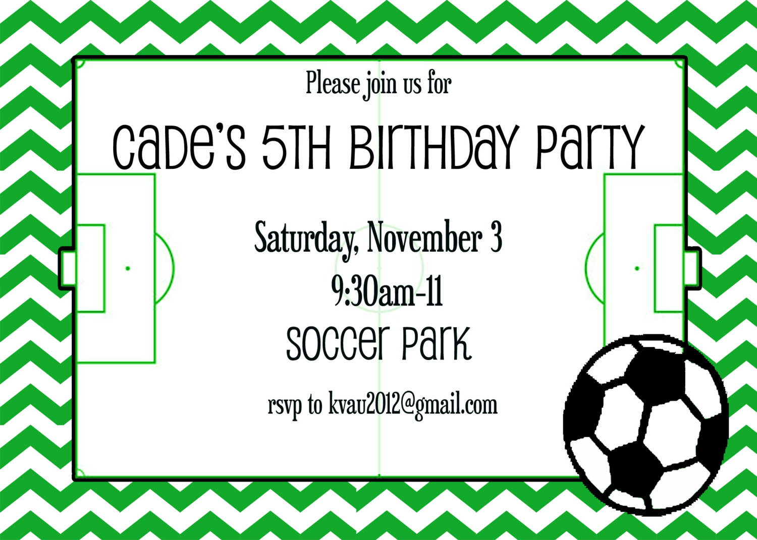 Fantastic Soccer Party Invitation Adornment Invitation Card